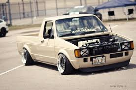 vw thing slammed k20 powered rabbit truck water cooled dubs pinterest slammed