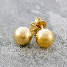 gold earrings studs gold stud earrings by otis jaxon silver jewellery