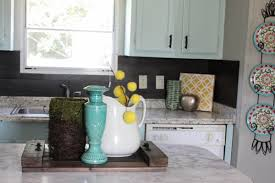 What Is A Kitchen Backsplash Our 40 Backsplash Using Vinyl Flooring Re Fabbed