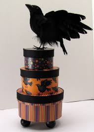 Paper Mache Halloween Crafts by Halloween Craft Stacked Paper Mache Boxes