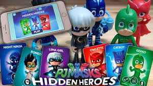 pj masks hidden heroes card match ipad game