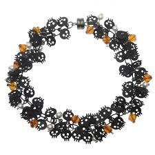 halloween skull charm chain bracelet beading projects