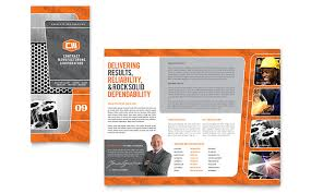 engineering brochure templates manufacturing engineering tri fold brochure template word