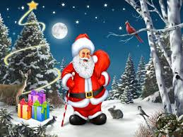 images of santa claus and christmas tree christmas lights decoration