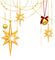 transparent christmas gold stars and ornament clipart gallery