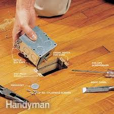 Hardwood Floor Outlet How To Install A Floor Outlet Family Handyman