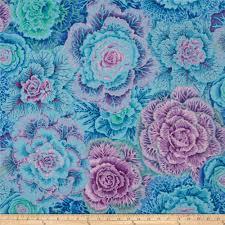 kaffe fassett home decor fabric kaffe fassett collective brassica blue discount designer fabric