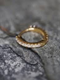 diamond helix stud lyst free diamond helix hoop earring in metallic