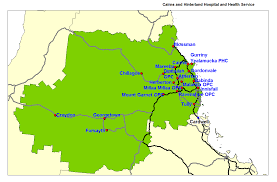 Health Map Cairns And Hinterland Hospital And Health Service Map Queensland