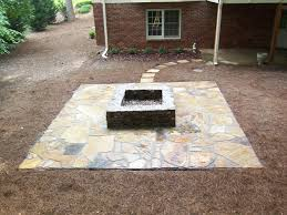 Outdoor Stone Firepits by Decorating Natural Concrete Outdoor Firepits With Natural Stone