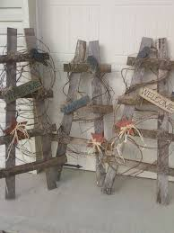 wholesale primitive home decor suppliers make in a teepee tree shape and use chalkboard plaques for a