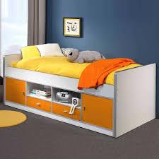 Esszimmerst Le Orange Jugendbett Moonio In Weiß Orange Mit Stauraum Wohnen De