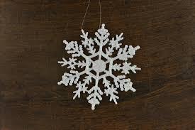 snowflake 4 inch ornaments