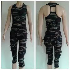 Baju Senam Nike Murah baju senam set armi ucs celana 3 4 elevenia