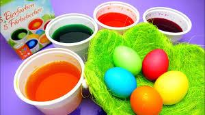 coloring easter eggs diy đồ chơi trẻ em bộ nhuộm màu trứng phục