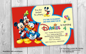 mickey mouse 1st birthday boy mickey mouse 1st birthday invitations for and boys party xyz