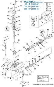 yamaha 25 30 hp gearcase exploded view iboats com