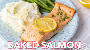 baked salmon recipe with garlic and dijon natashaskitchen com