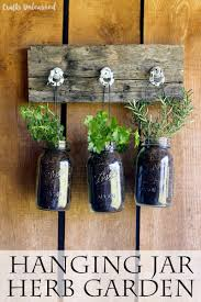 Pinterest Gardening Crafts - diy hanging garden for jarred herbs crafts unleashed garden