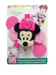 disney baby minnie mouse bow cute flower petal teether toys