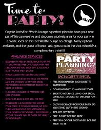 party planning u2013 coyote joe u0027s