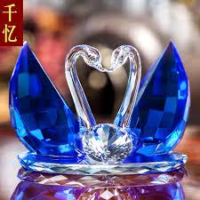 wedding gift ornaments swan ornaments to send friends wedding gift premium bestie