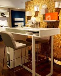 cb2 public white high dining table engineered wood office
