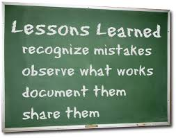 lessons learned forgotten u2026 project management lessons learned