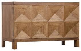 Sideboard Modern Brenton Modern Classic Walnut Diamond 2 Door Sideboard Modern
