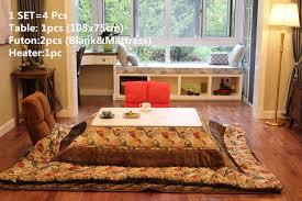 living room heaters 4pcs set japanese style kotatsu set folding table futon heater