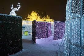 vancouver christmas light maze enchant christmas light maze and market stock photo image of