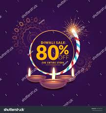 diwali festival sale template background cracker stock vector
