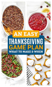 a thanksgiving plan what to make when one lovely