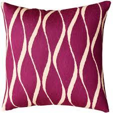 Contemporary Waves Tyrian Purple Decorative Pillow Cover Handmade