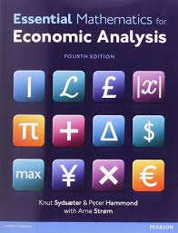 essential mathematics for economic analysis 4th edition knut