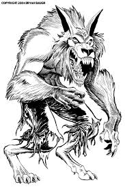 Werewolf Coloring Pages Scary Coloring Paes