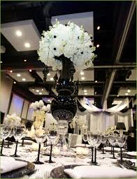 black and white wedding wedding lunch black white room hostess with the mostess