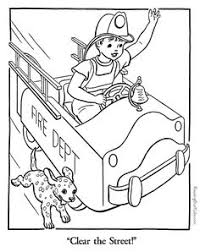firetruck picture to color community helpers pinterest