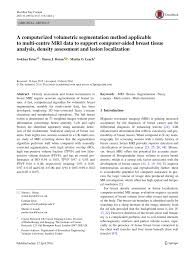 a computerized volumetric segmentation method applicable to multi