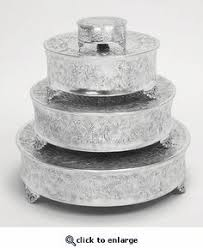 silver wedding cake stand 14 silver embossed metal cake plateau stand riser wedding