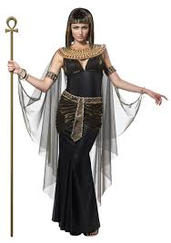 the queen of the nile costume for women includes a one strap black