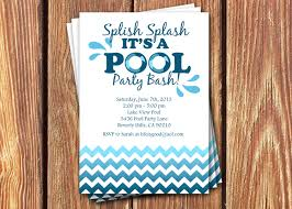 Invitation Birthday Party Card Pool Party Birthday Invitations By Fromheadtotoedesigns On Etsy