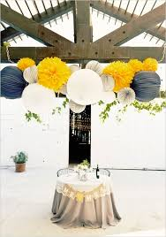 fascinating navy blue and yellow wedding decoration ideas 67 in
