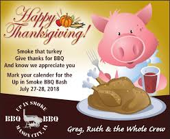 bbq thanksgiving greeting ad vault globegazette