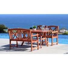 Rectangular Patio Tables 4 5 Person Rectangle Patio Dining Furniture Patio Furniture