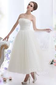 Vintage Ball Gown Strapless Tulle Wedding Dress With Detachable Short Wedding Dresses U0026 Reception Dresses Cocomelody Com