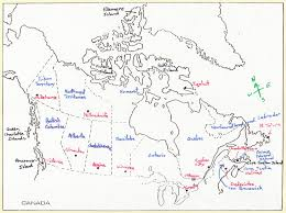 Map Of Canada Provinces Unit 1 Canadian And World Studies