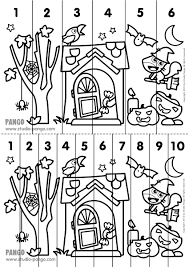 halloween printable number sequence puzzle halloween number