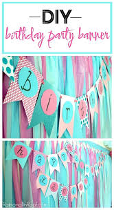 Party Decoration Ideas Simple Diy Birthday Banner Tutorial Party Banners Home Made