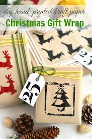 christmas kraft wrapping paper woman in real the of the everyday diy linocut print